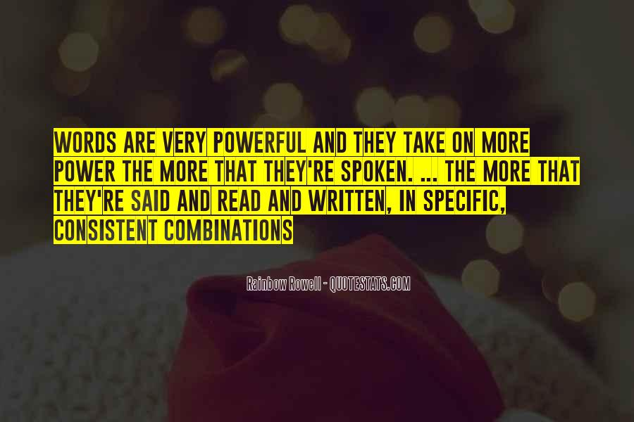 Quotes About Words That Are Powerful #664685