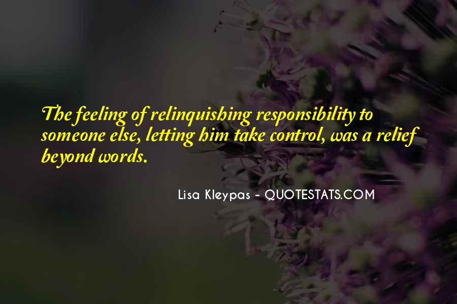 Quotes About Relinquishing Control #990017