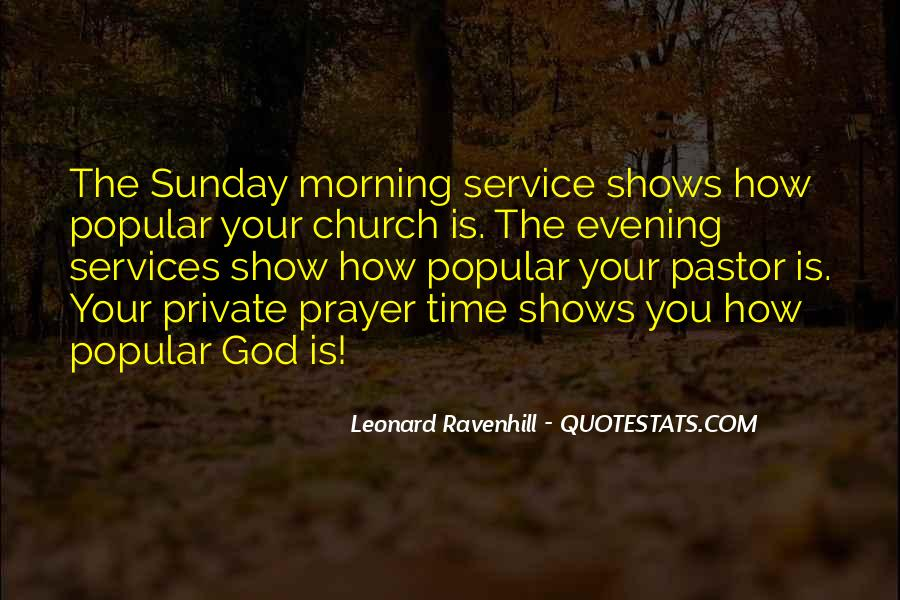 Quotes About Church Services #340901