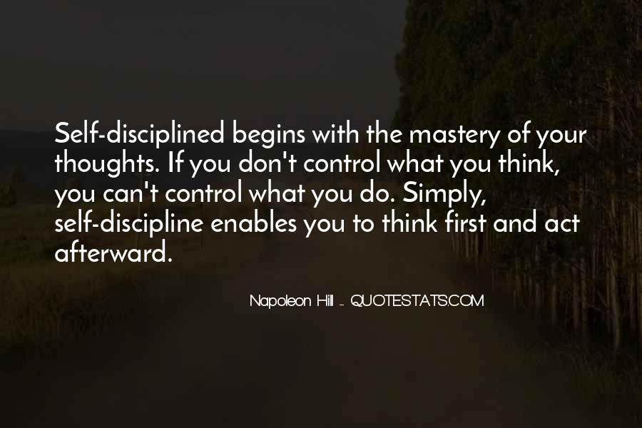 Quotes About Discipline And Self Control #1237545