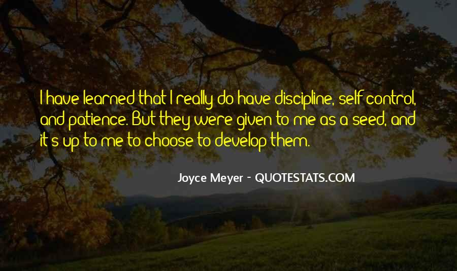 Quotes About Discipline And Self Control #176508
