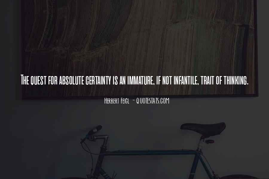 Quotes About Absolute Certainty #128965