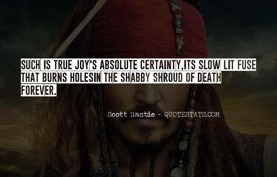 Quotes About Absolute Certainty #1351021