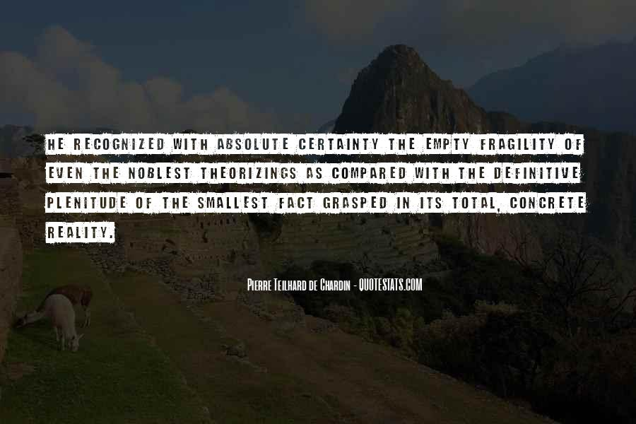 Quotes About Absolute Certainty #287073