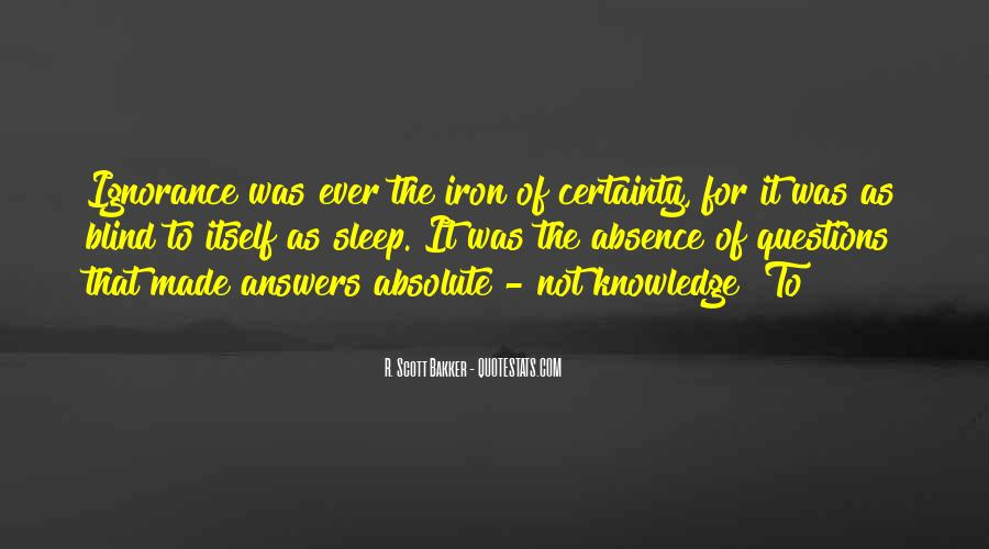 Quotes About Absolute Certainty #335992
