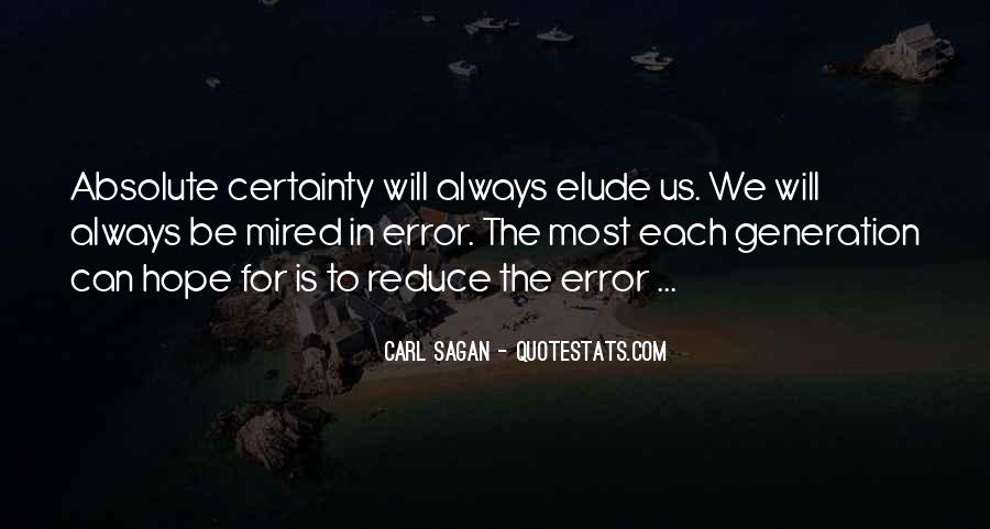 Quotes About Absolute Certainty #57013