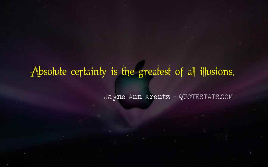 Quotes About Absolute Certainty #931516