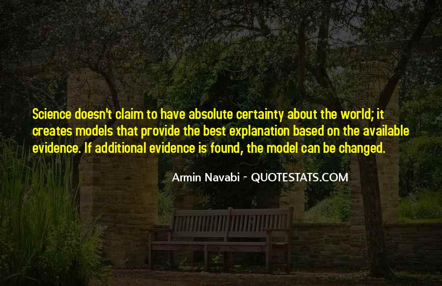 Quotes About Absolute Certainty #962582