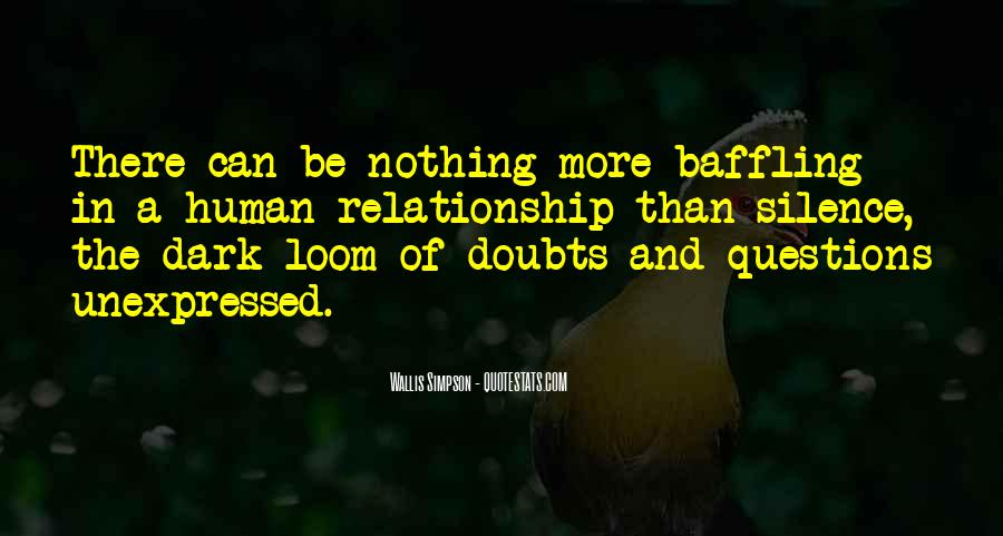 Quotes About Doubts In A Relationship #1624639