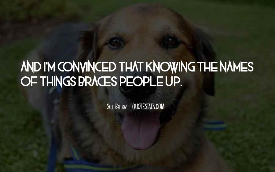 Quotes About Braces #1394318