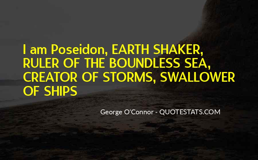 Quotes About Poseidon And The Sea #269375