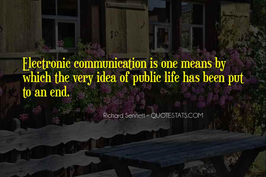 Quotes About Means Of Communication #27830