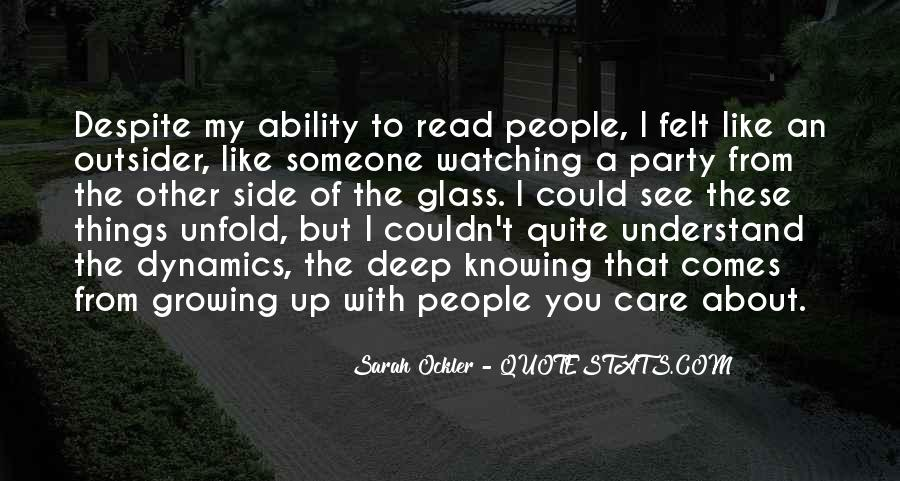 Quotes About People Watching You #627057
