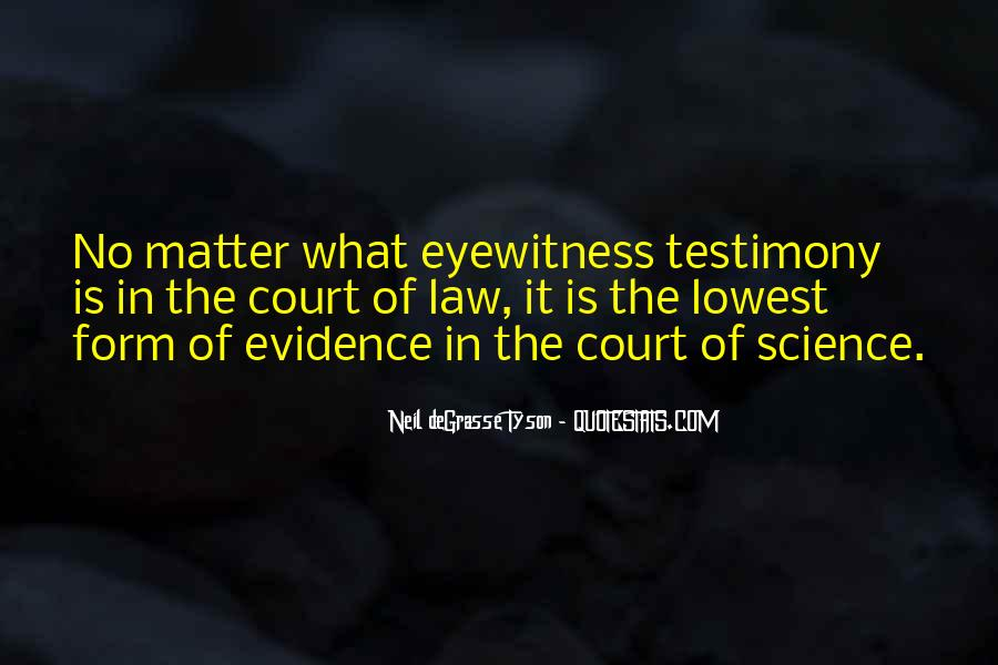 Quotes About Testimony #111529