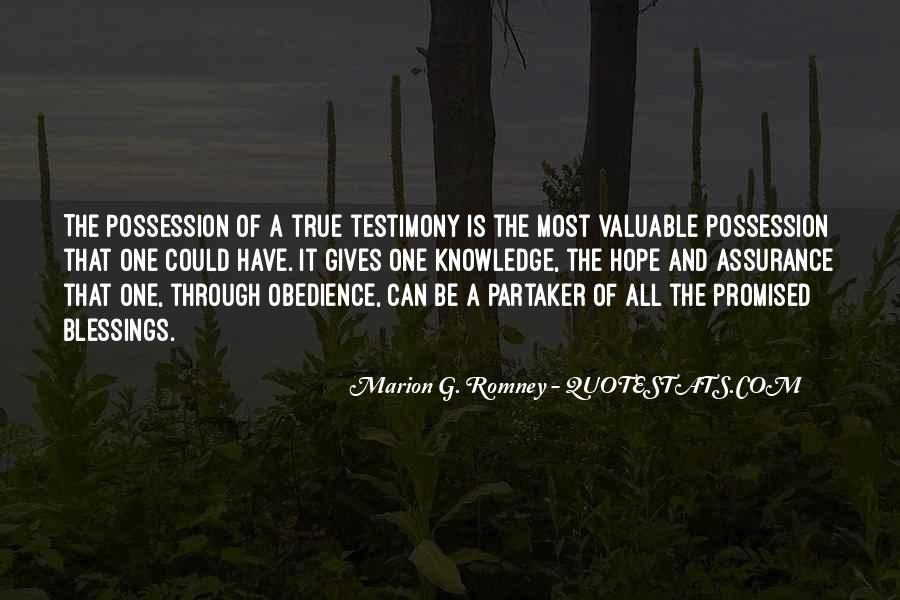 Quotes About Testimony #204556