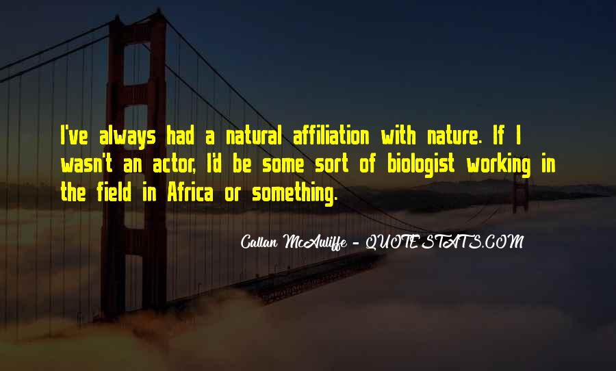 Quotes About Africa Nature #1162314