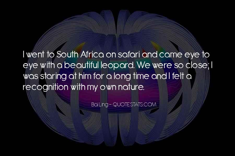Quotes About Africa Nature #1866931