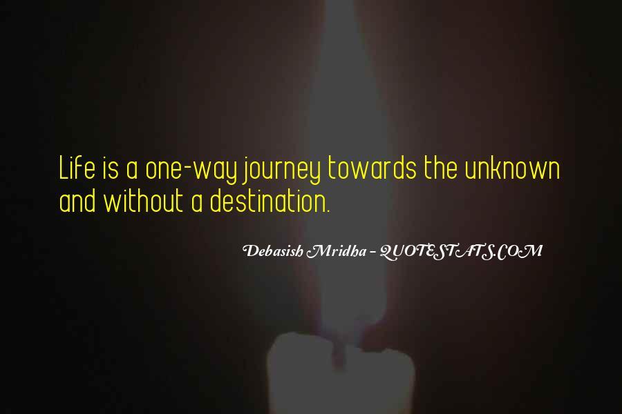 Quotes About Unknown Destination #1869119