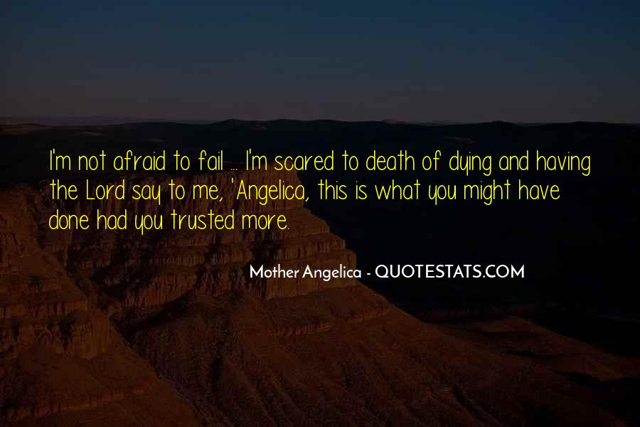 Quotes About Not Scared Of Death #235105