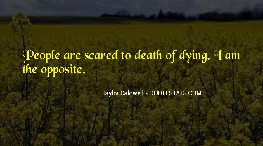 Quotes About Not Scared Of Death #353881