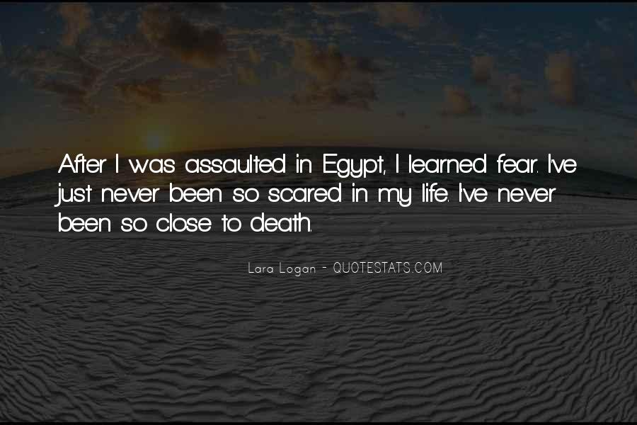 Quotes About Not Scared Of Death #426876
