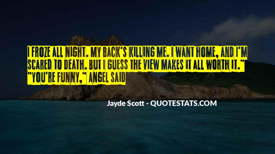 Quotes About Not Scared Of Death #94535