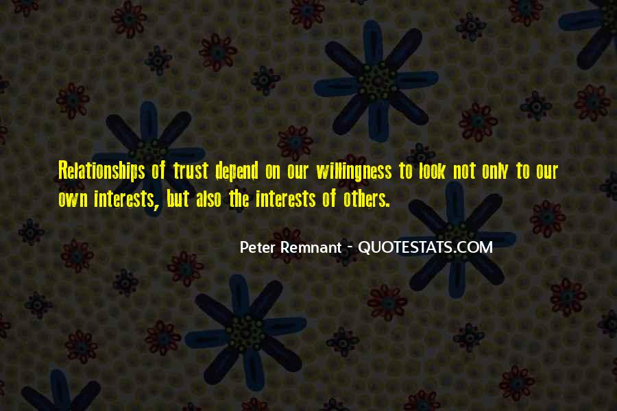 Quotes About Interests #21363