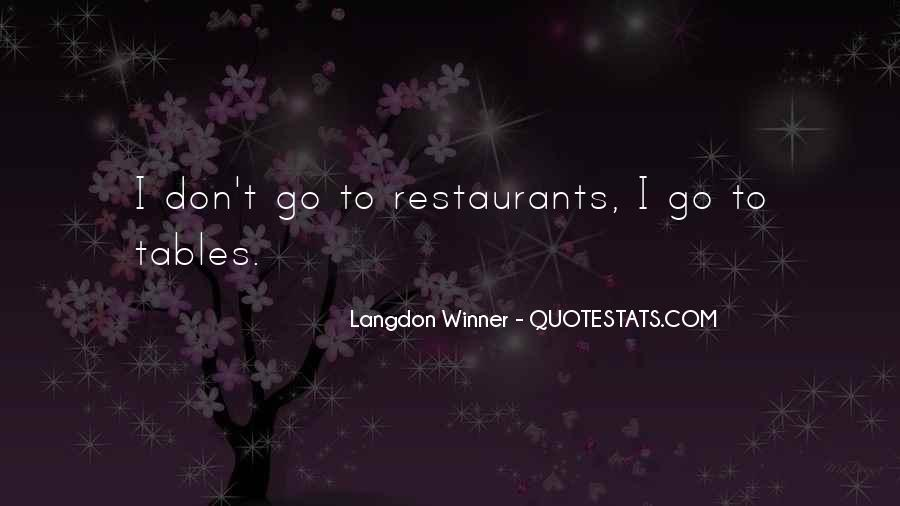 Quotes About Restaurants #132402