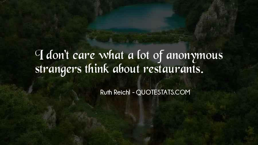 Quotes About Restaurants #355256