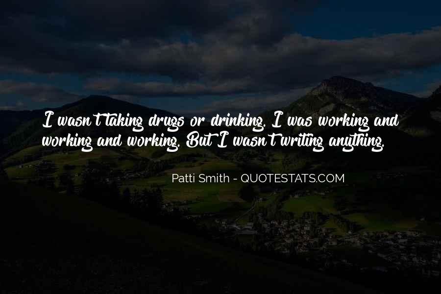 Quotes About Writing And Drinking #1529658