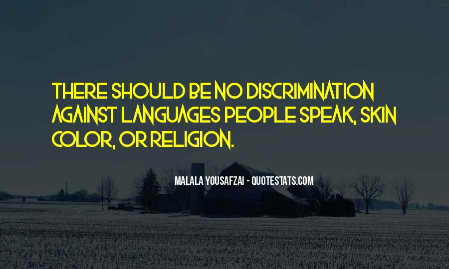 Quotes About Discrimination And Equality #1536001