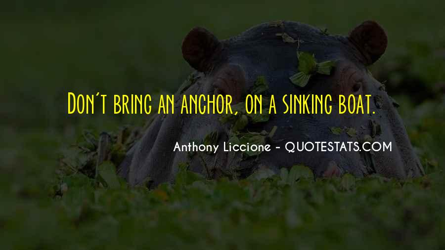 Quotes About Sinking #189537