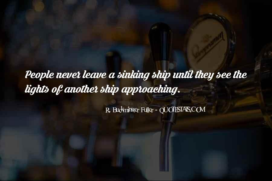 Quotes About Sinking #217938