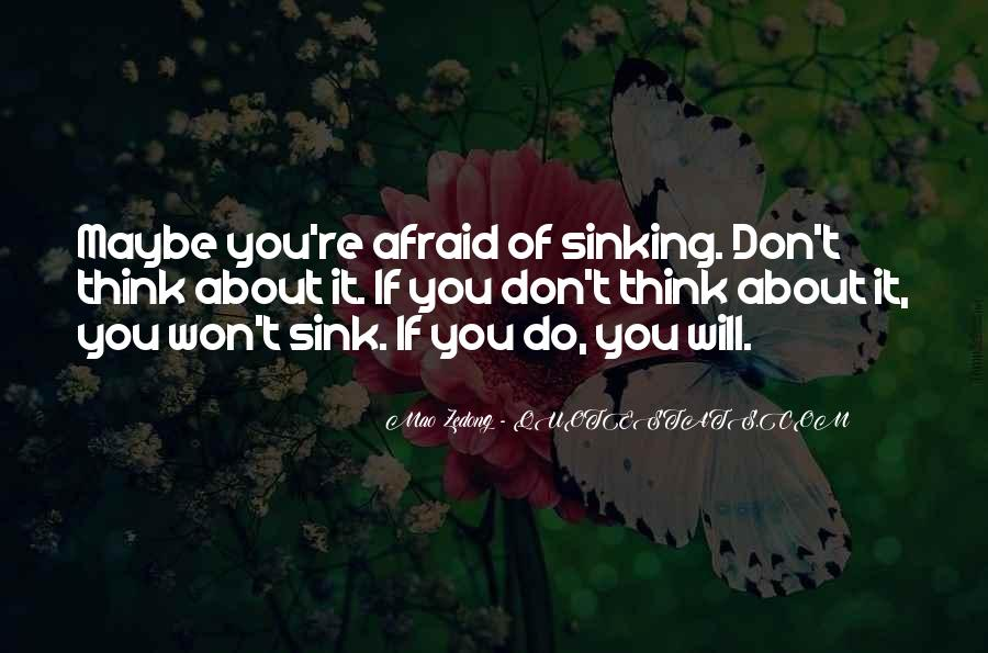 Quotes About Sinking #268958