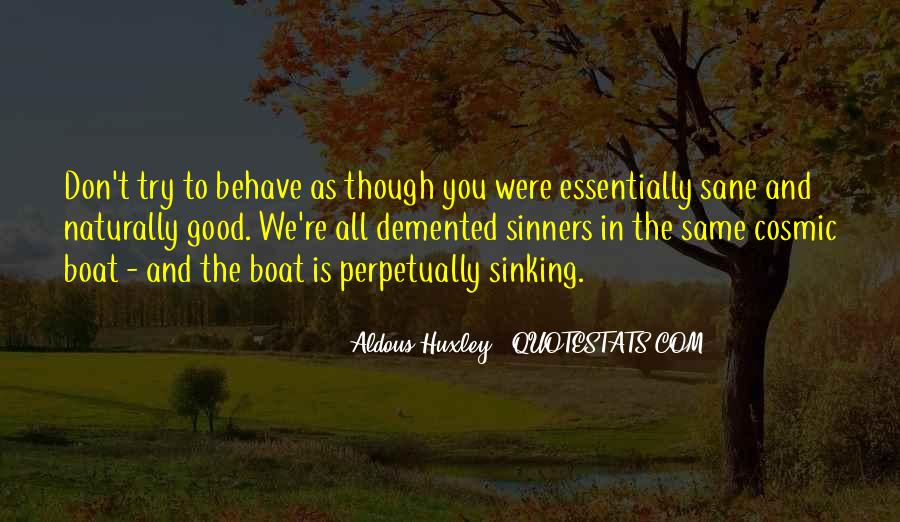 Quotes About Sinking #300293