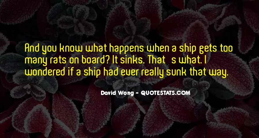 Quotes About Sinking #329225