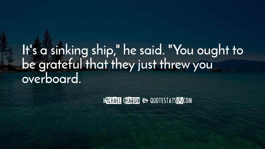 Quotes About Sinking #397718