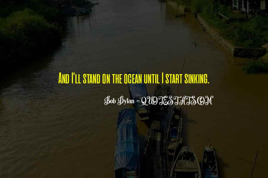 Quotes About Sinking #481489