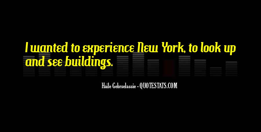 Quotes About New York Buildings #691487