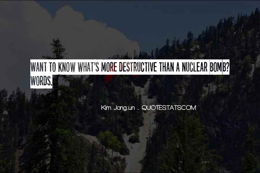 Quotes About Destructive Words #1595589