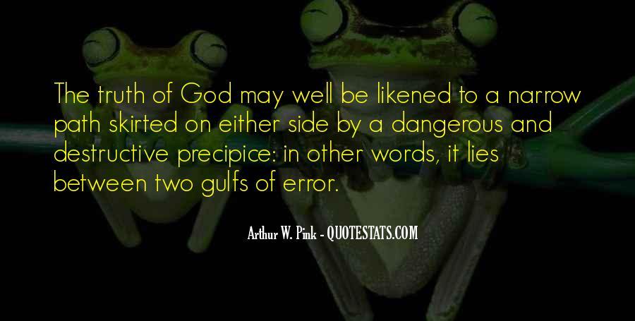 Quotes About Destructive Words #1843820