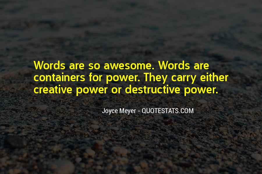 Quotes About Destructive Words #687220