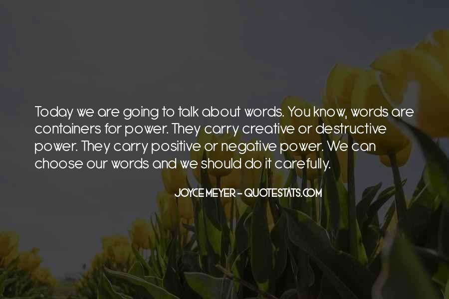 Quotes About Destructive Words #99647
