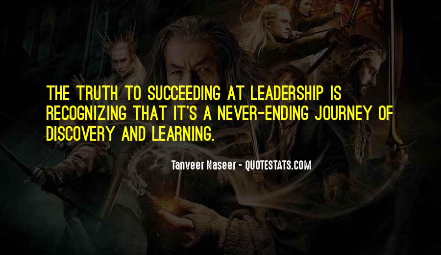 Quotes About The Journey Of Learning #18324