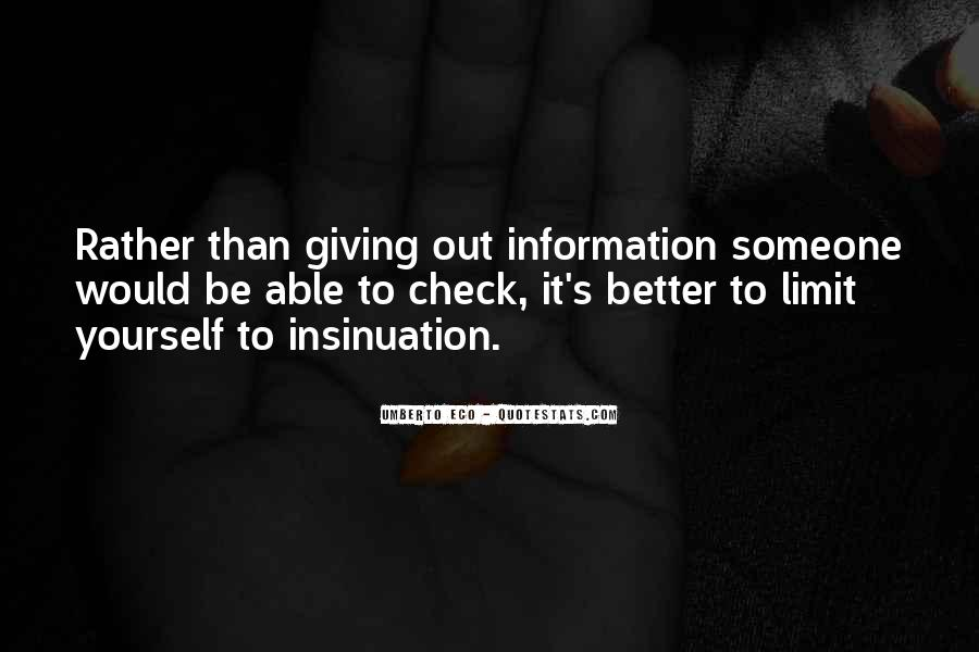 Quotes About Insinuation #1677235