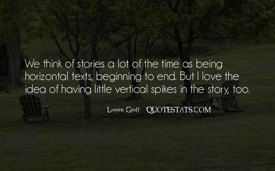 Quotes About The Beginning Of A Love Story #162741
