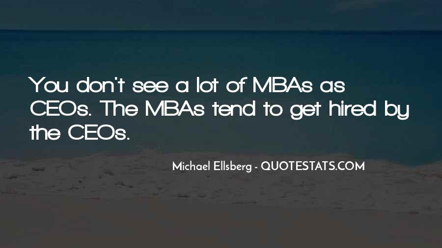 Quotes About Mba #1691052