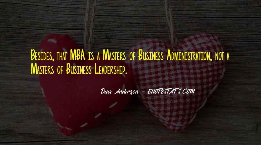 Quotes About Mba #405255