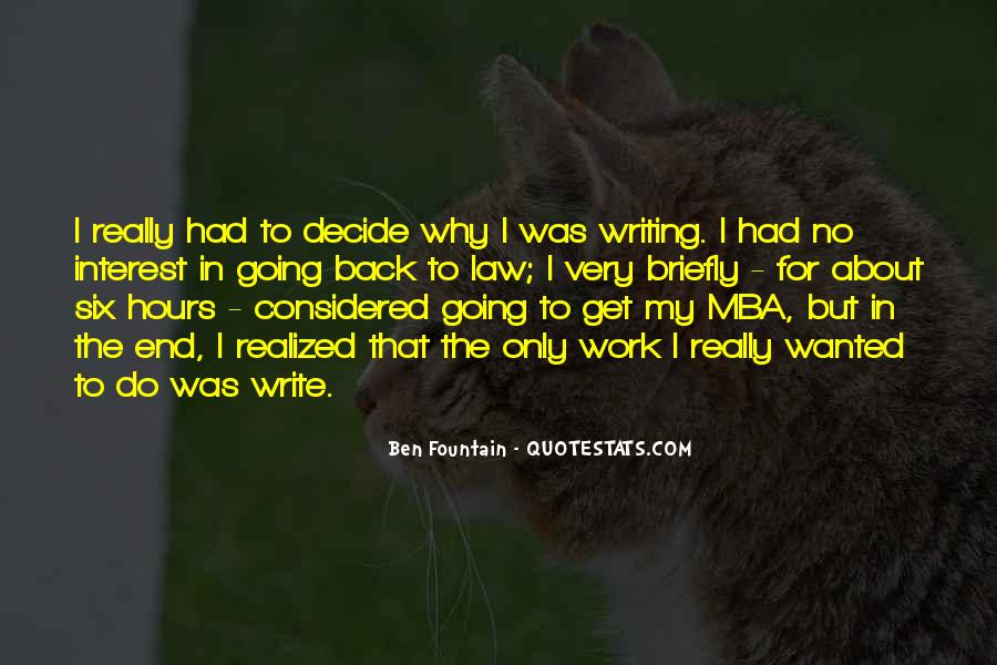 Quotes About Mba #832865