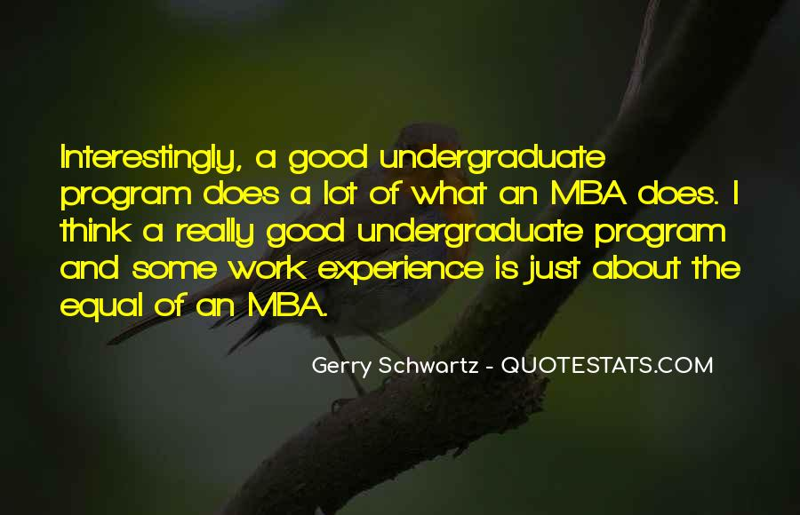 Quotes About Mba #883699